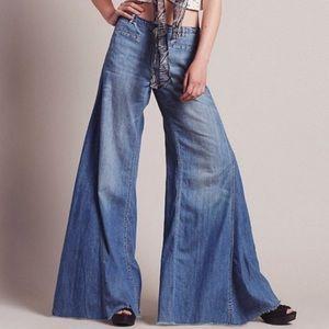 Free People Extreme Vintage Flare Denim Jeans